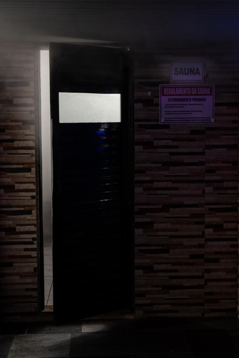 Acesso a sauna a vapor.