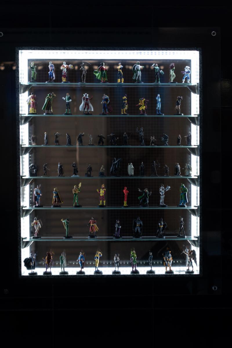 Coleção de action figures.